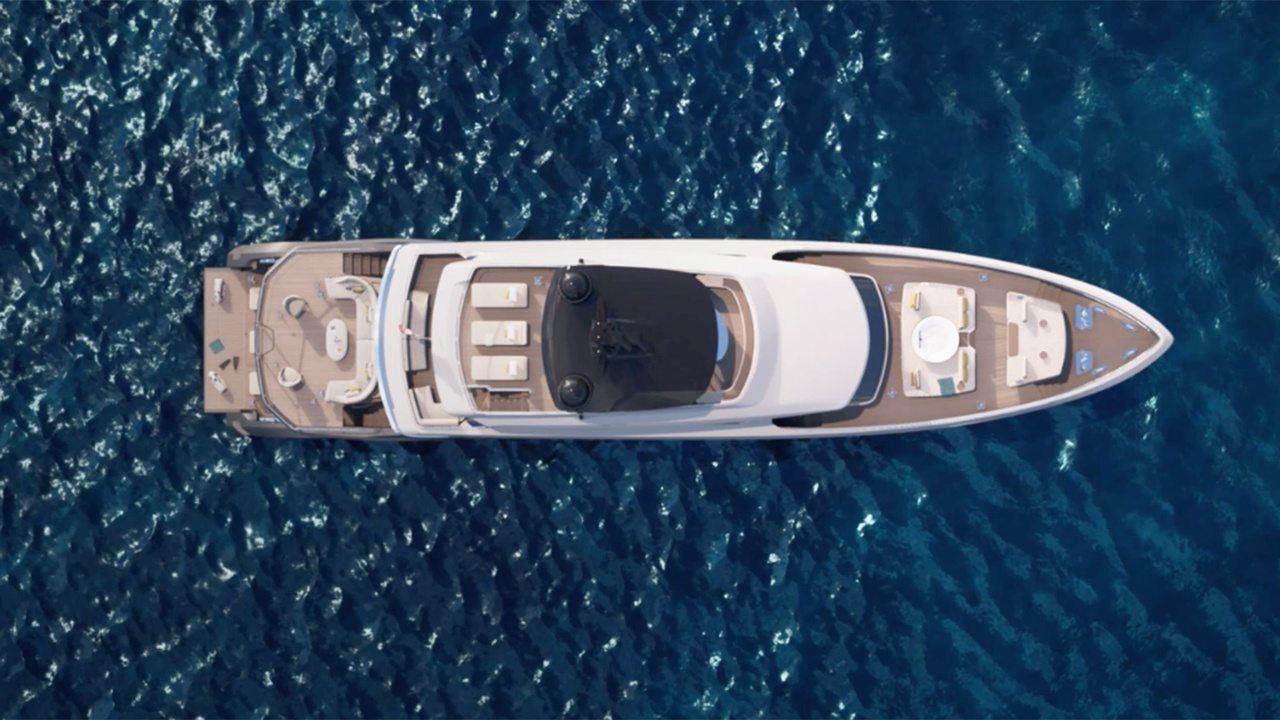 38 metre Trideck -  the biggest Azimut ever built